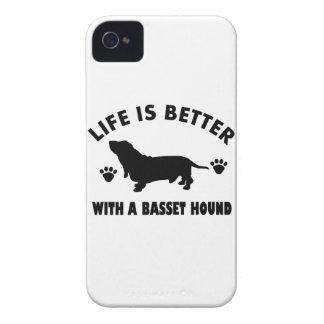 basset hound dog design iPhone 4 Case-Mate cases