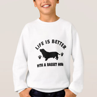 basset hound dog design sweatshirt