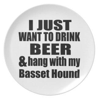 Basset Hound Dog Designs Plate