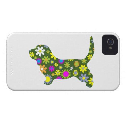 Basset Hound dog funky floral blackberry bold case