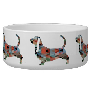 Basset Hound Dog Geometric Pattern Silhouette
