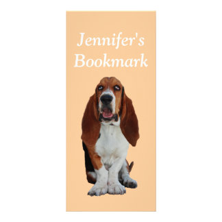 Basset Hound dog photo custom name bookmark Rack Card