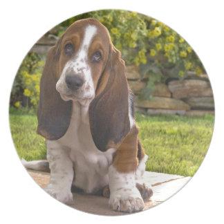 Basset Hound Dog Plate
