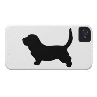 Basset Hound dog silhouette blackberry bold case