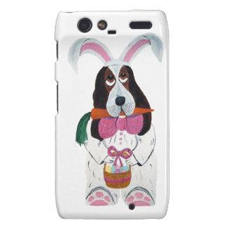 Basset Hound Easter Bunny Case Motorola Droid RAZR Cover