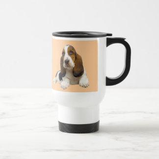 Basset Hound Fabulous Face Travel Mug