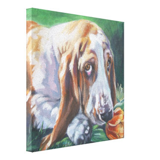 Basset Hound Fine Art on Gallery Wrapped Canvas