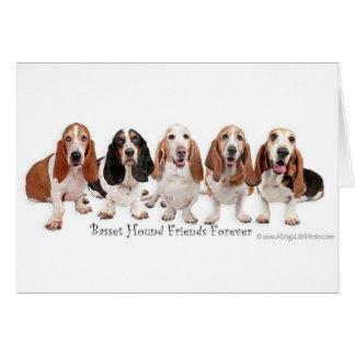 Basset Hound Friends Forever Card