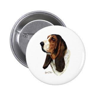 Basset Hound Head 1 Button