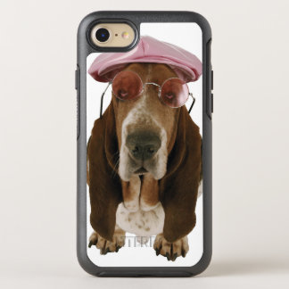 Basset hound in sunglasses and cap OtterBox symmetry iPhone 7 case
