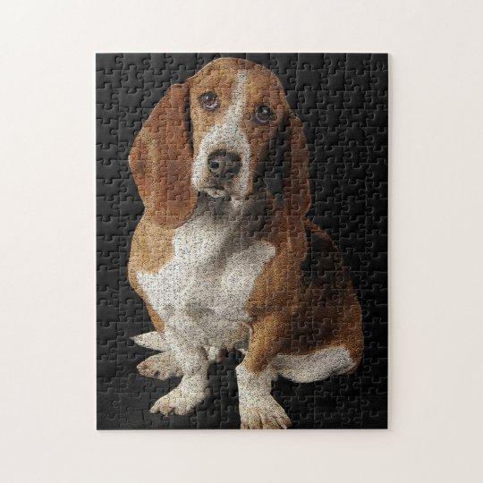 Basset hound jigsaw puzzle
