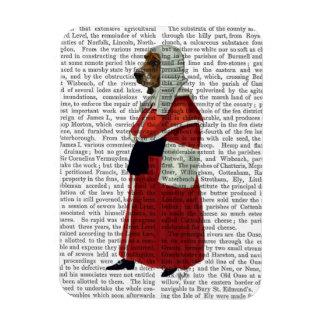 Basset Hound Judge Full Rectangular Photo Magnet