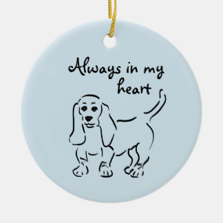 Basset Hound Keepsake - Customized Pet Loss Ceramic Ornament