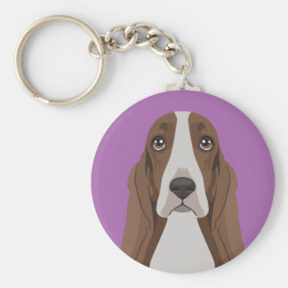 Basset Hound Key Ring