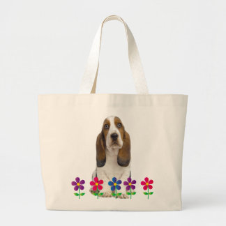 Basset Hound Large Tote Bag