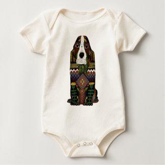 Basset Hound love Baby Bodysuit