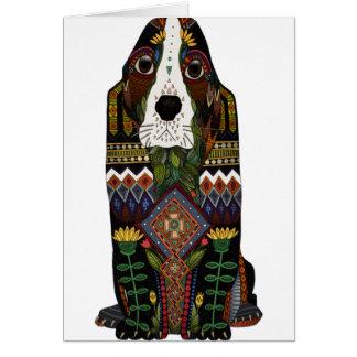 Basset Hound love Card