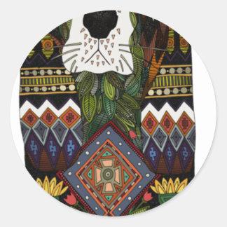 Basset Hound love Classic Round Sticker