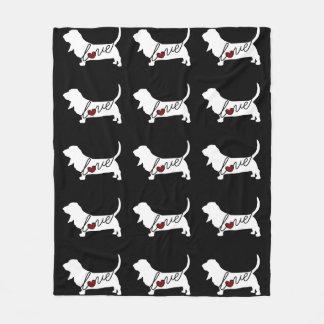 Basset Hound Love Fleece Blanket