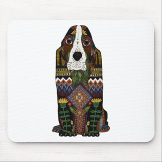 Basset Hound love Mouse Pad