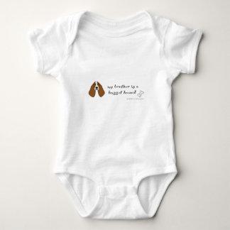 basset hound - more breeds baby bodysuit