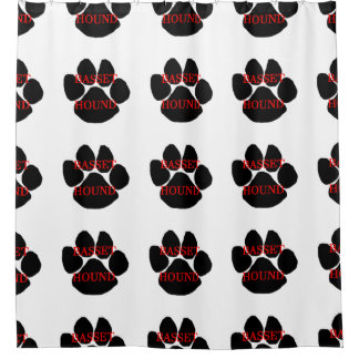 basset hound name paw shower curtain