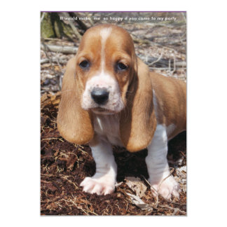 Basset hound party invitation