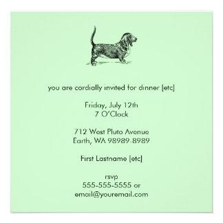 Basset_Hound Personalized Invitations