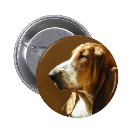 Basset Hound Photo Button