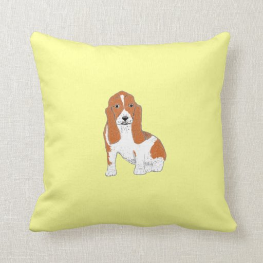Basset Hound Pillows, cushions