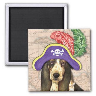 Basset Hound Pirate Magnet