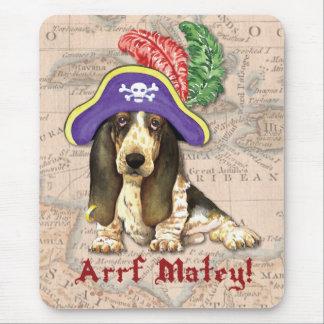 Basset Hound Pirate Mouse Pad