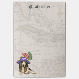 Basset Hound Pirate Post-it® Notes