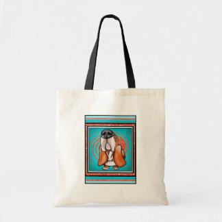 Basset Hound Pop Art Abstract  Glitter Name Bag
