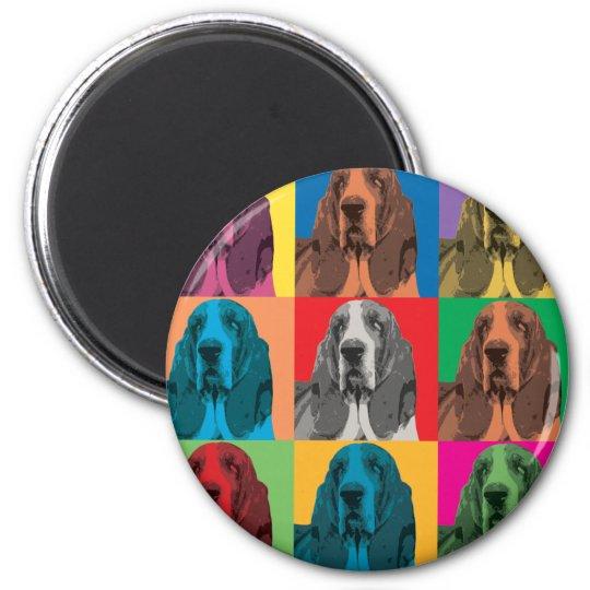 Basset Hound Pop-Art Magnet
