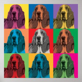 Basset Hound Pop-Art Poster