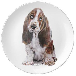 Basset Hound Porcelain Plates