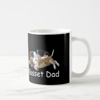 Basset Hound puppies on Basset Dad mug.