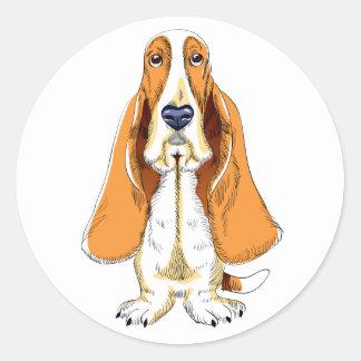 Basset Hound Puppy Dog Sticker / Label