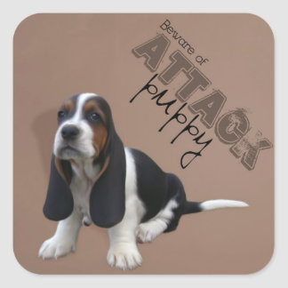 Basset Hound Puppy Sticker