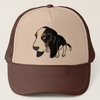 BASSET HOUND PUPPY TRUCKER HAT