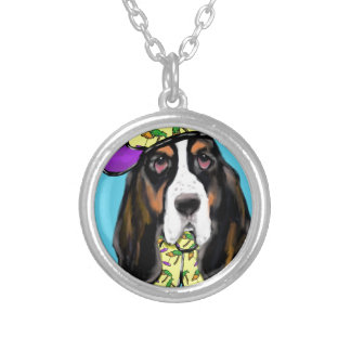Basset Hound Silver Plated Necklace
