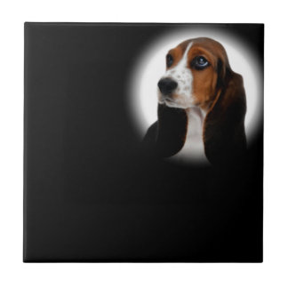 Basset Hound Small Square Tile