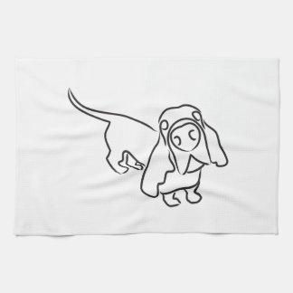 Basset Hound Tea Towel
