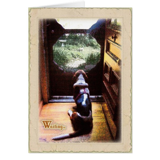 Basset Hound waiting Card