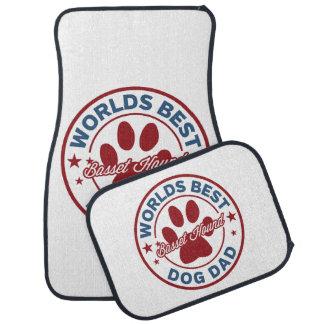 Basset Hound Worlds Best Dog Dad Car Mat