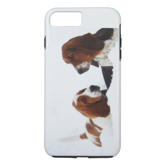 Basset Hounds in Snow on iPhone 7 Plus, Tough iPhone 7 Plus Case