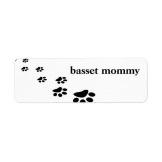 basset label return address label