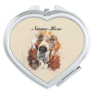 Basset Love Mirrors For Makeup