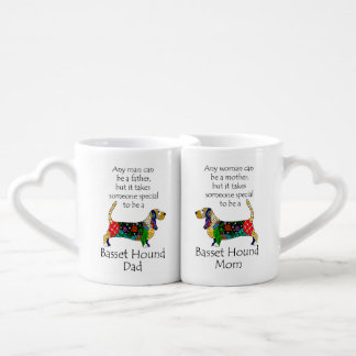 Basset Mom and Dad Mug Set